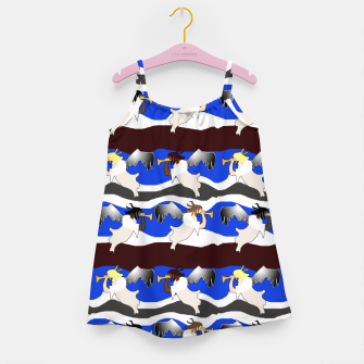 Angels Pattern Girl's dress thumbnail image