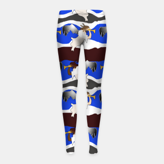 Angels Pattern Girl's leggings thumbnail image