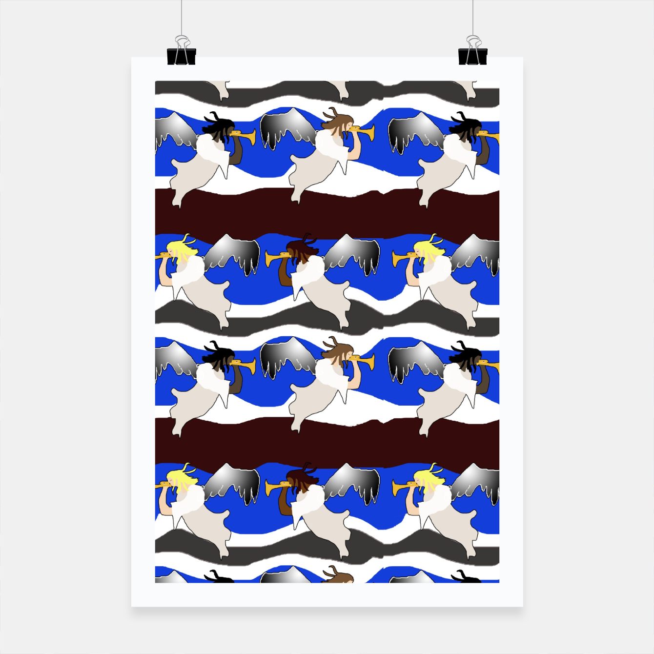 Image of Angels Pattern Poster - Live Heroes