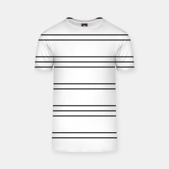 Thumbnail image of Simple Lines Pattern bw T-shirt, Live Heroes