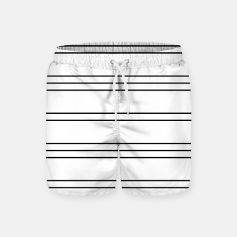 Thumbnail image of Simple Lines Pattern bw Swim Shorts, Live Heroes