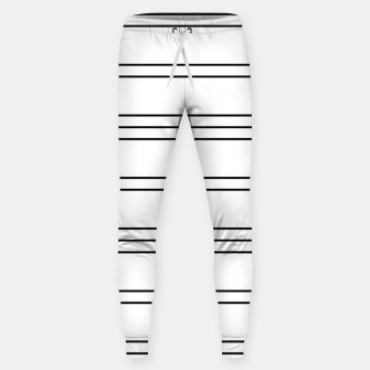 Thumbnail image of Simple Lines Pattern bw Sweatpants, Live Heroes