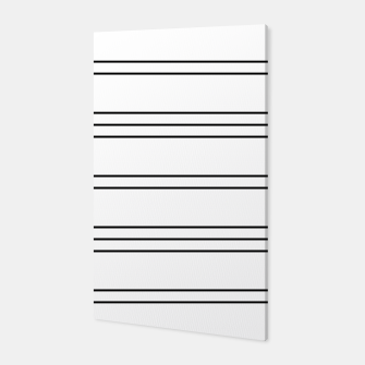 Thumbnail image of Simple Lines Pattern bw Canvas, Live Heroes