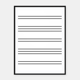 Thumbnail image of Simple Lines Pattern bw Framed poster, Live Heroes