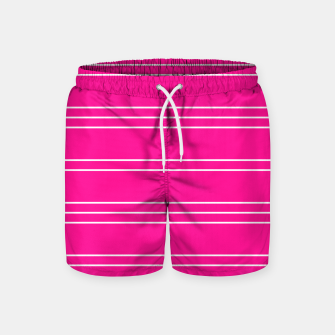 Thumbnail image of Simple Lines Pattern mag Swim Shorts, Live Heroes