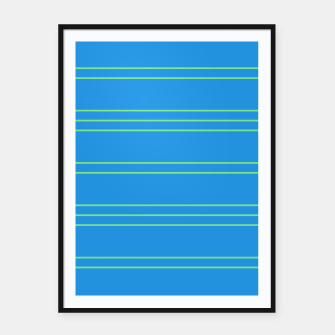 Thumbnail image of Simple Lines Pattern bt Framed poster, Live Heroes