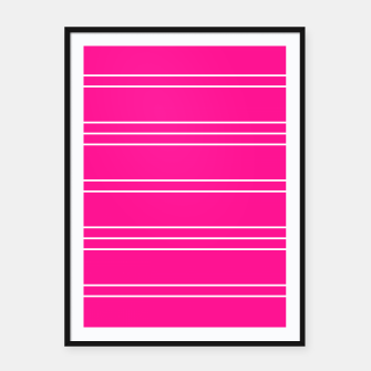 Thumbnail image of Simple Lines Pattern mag Framed poster, Live Heroes