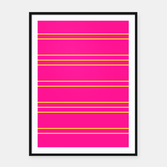 Thumbnail image of Simple Lines Pattern yp Framed poster, Live Heroes
