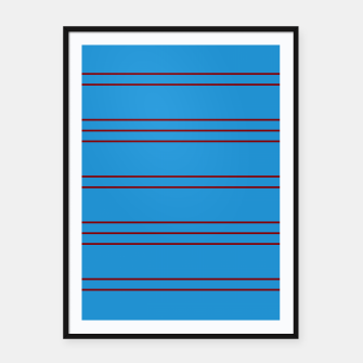 Thumbnail image of Simple Lines Pattern br Framed poster, Live Heroes