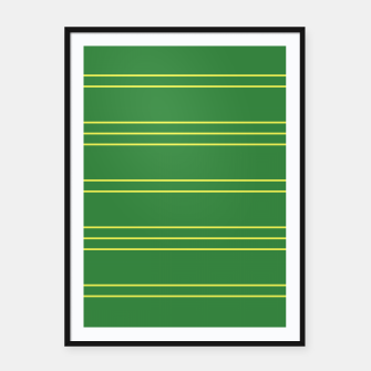 Thumbnail image of Simple Lines Pattern gy Framed poster, Live Heroes