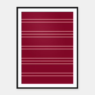 Thumbnail image of Simple Lines Pattern wr Framed poster, Live Heroes