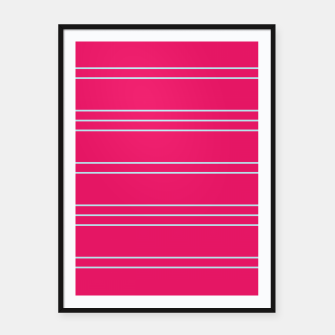 Thumbnail image of Simple Lines Pattern bp Framed poster, Live Heroes