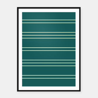 Thumbnail image of Simple Lines Pattern gr Framed poster, Live Heroes