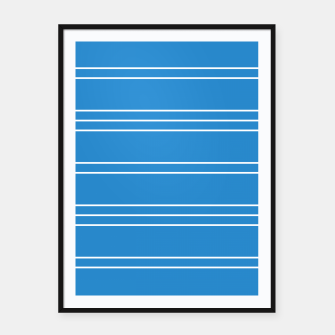 Thumbnail image of Simple Lines Pattern wb Framed poster, Live Heroes