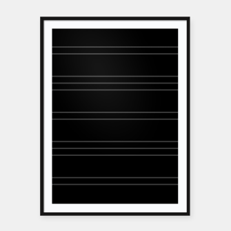 Thumbnail image of Simple Lines Pattern bl Framed poster, Live Heroes