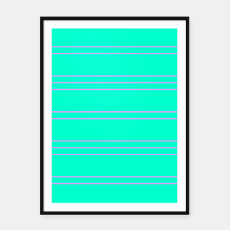 Thumbnail image of Simple Lines Pattern tp Framed poster, Live Heroes
