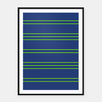 Thumbnail image of Simple Lines Pattern bg Framed poster, Live Heroes