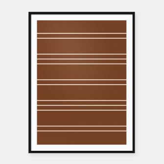 Thumbnail image of Simple Lines Pattern co Framed poster, Live Heroes