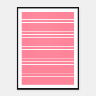 Thumbnail image of Simple Lines Pattern pw Framed poster, Live Heroes