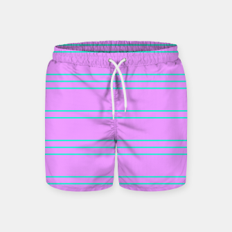 Thumbnail image of Simple Lines Pattern pl Swim Shorts, Live Heroes
