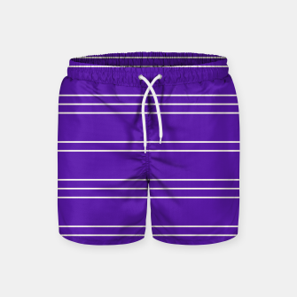 Thumbnail image of Simple Lines Pattern pu Swim Shorts, Live Heroes
