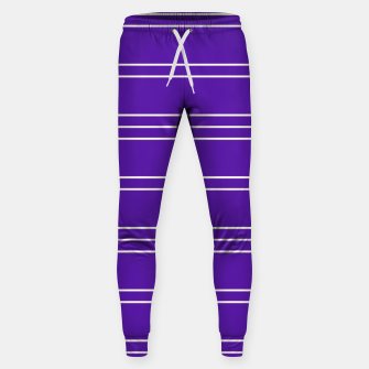 Thumbnail image of Simple Lines Pattern pu Sweatpants, Live Heroes