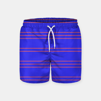 Thumbnail image of Simple Lines Pattern pr Swim Shorts, Live Heroes