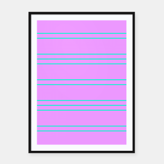 Thumbnail image of Simple Lines Pattern pl Framed poster, Live Heroes