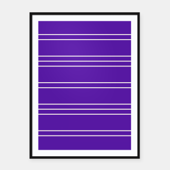 Thumbnail image of Simple Lines Pattern pu Framed poster, Live Heroes