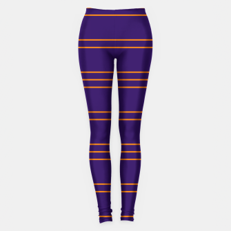 Miniatur Simple Lines Pattern po Leggings, Live Heroes