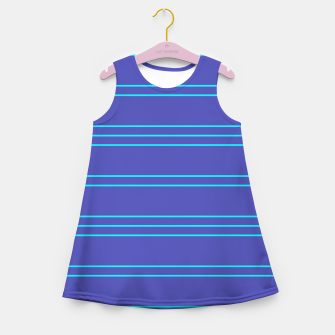 Miniatur Simple Lines Pattern pt Girl's summer dress, Live Heroes