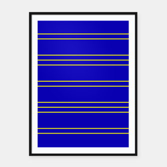 Miniatur Simple Lines Pattern by Framed poster, Live Heroes
