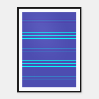 Thumbnail image of Simple Lines Pattern pt Framed poster, Live Heroes