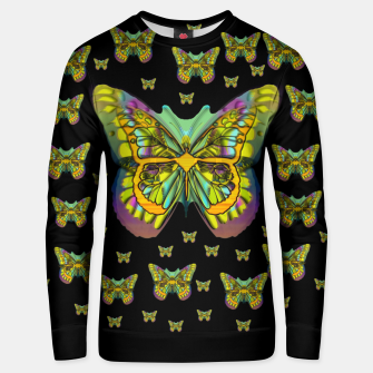 butterflies with wings of freedom and love life Unisex sweater Bild der Miniatur