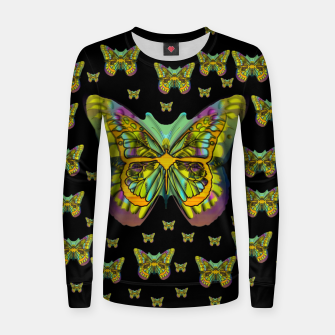 butterflies with wings of freedom and love life Women sweater Bild der Miniatur