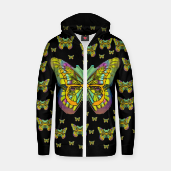 butterflies with wings of freedom and love life Zip up hoodie Bild der Miniatur