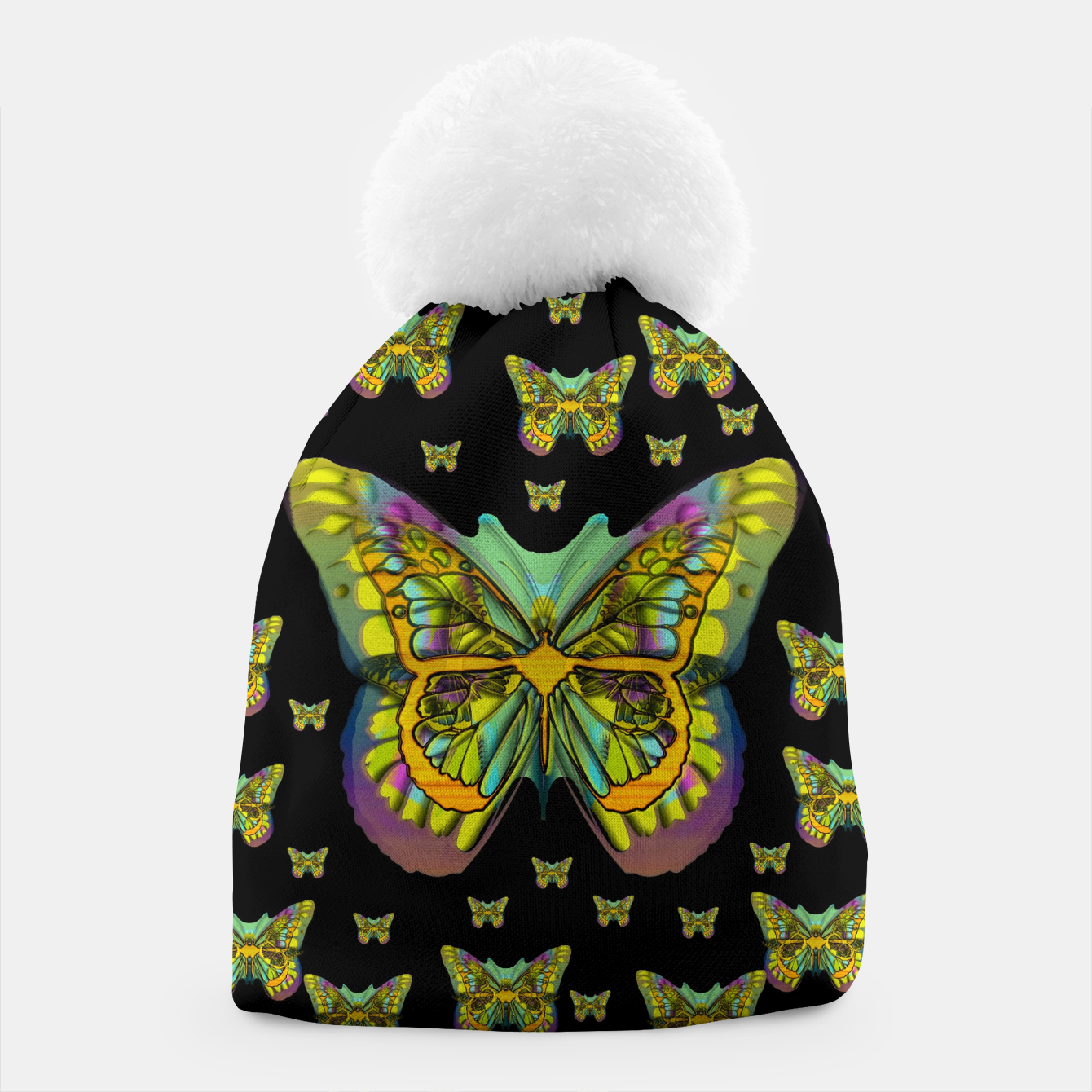 Foto butterflies with wings of freedom and love life Beanie - Live Heroes