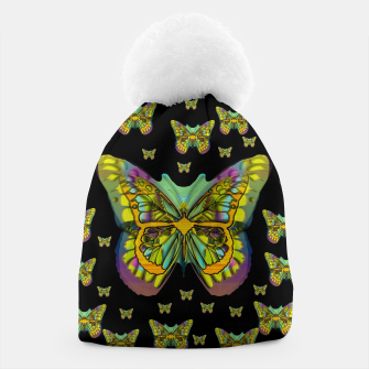 butterflies with wings of freedom and love life Beanie Bild der Miniatur
