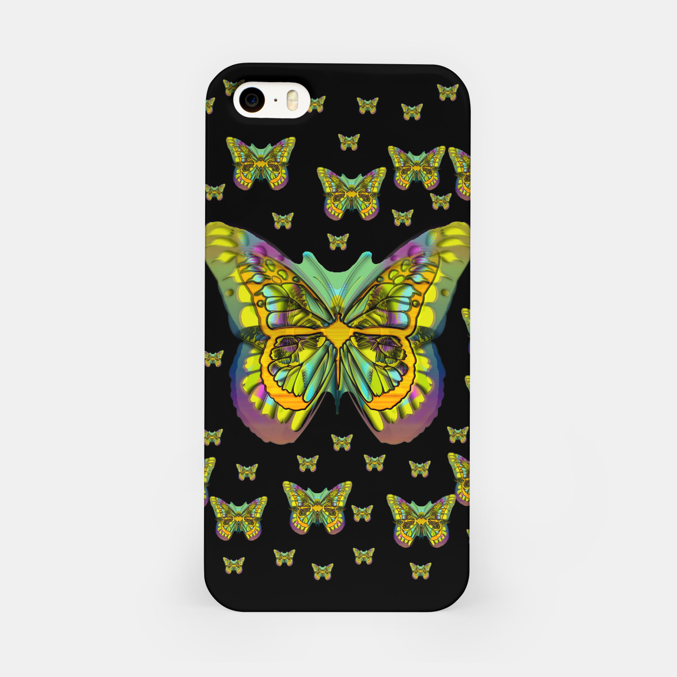 Foto butterflies with wings of freedom and love life iPhone Case - Live Heroes
