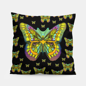 Miniatur butterflies with wings of freedom and love life Pillow, Live Heroes