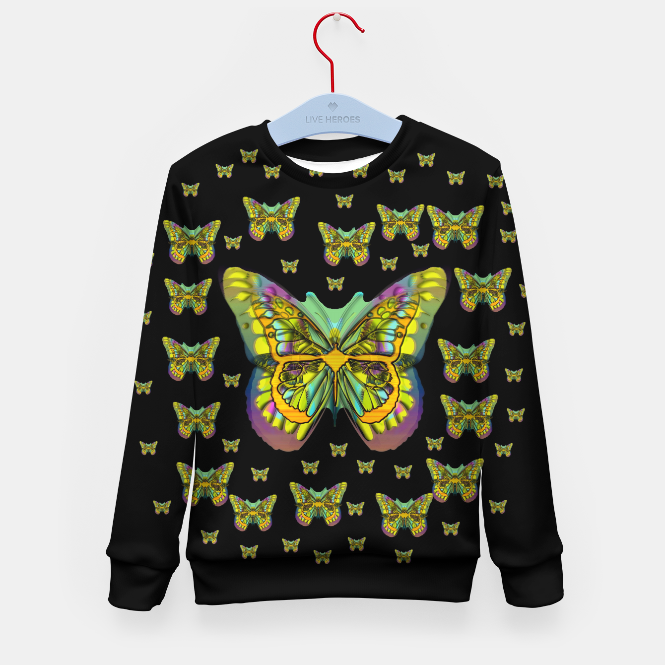 Foto butterflies with wings of freedom and love life Kid's sweater - Live Heroes