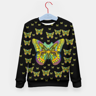 Miniatur butterflies with wings of freedom and love life Kid's sweater, Live Heroes