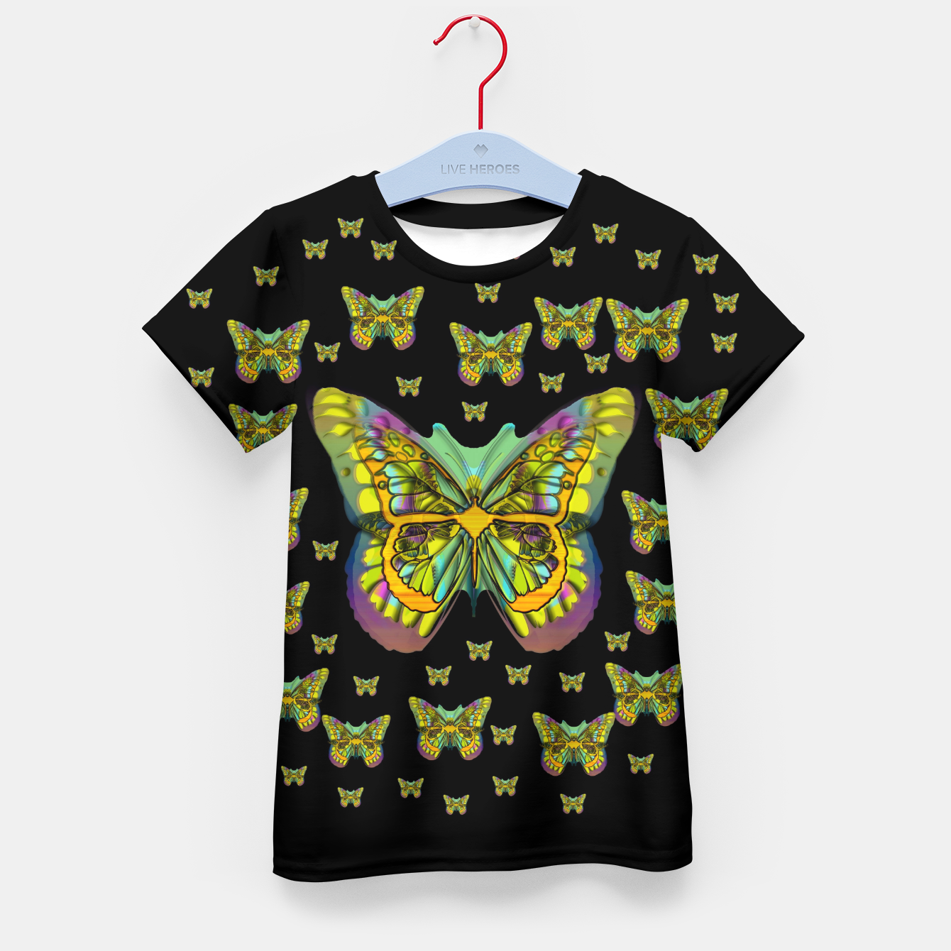 Foto butterflies with wings of freedom and love life Kid's t-shirt - Live Heroes