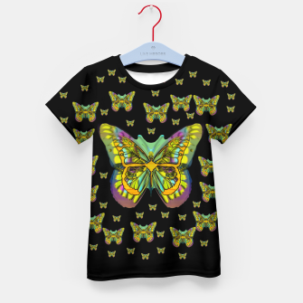 butterflies with wings of freedom and love life Kid's t-shirt Bild der Miniatur