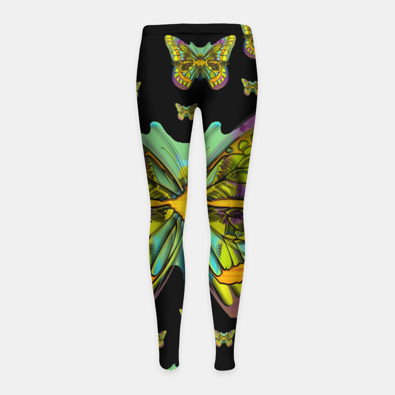Foto butterflies with wings of freedom and love life Girl's leggings - Live Heroes