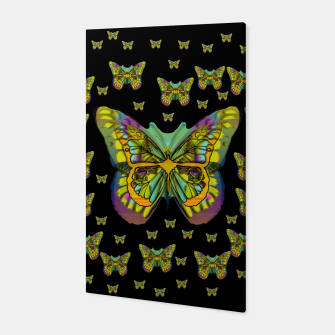 butterflies with wings of freedom and love life Canvas Bild der Miniatur