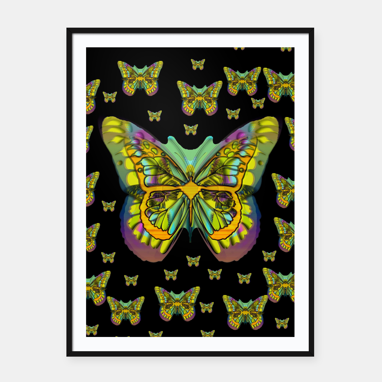 Foto butterflies with wings of freedom and love life Framed poster - Live Heroes