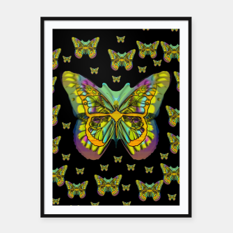 Miniatur butterflies with wings of freedom and love life Framed poster, Live Heroes