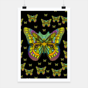 butterflies with wings of freedom and love life Poster Bild der Miniatur