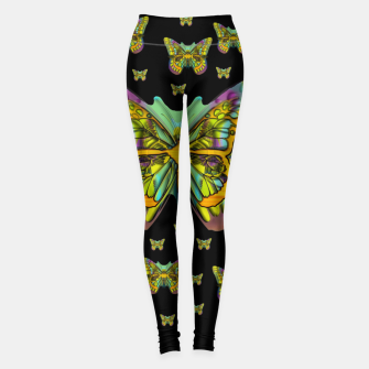 butterflies with wings of freedom and love life Leggings Bild der Miniatur